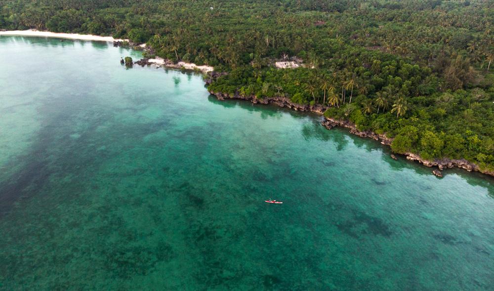 Kayaking on the West coast of Zanzibar