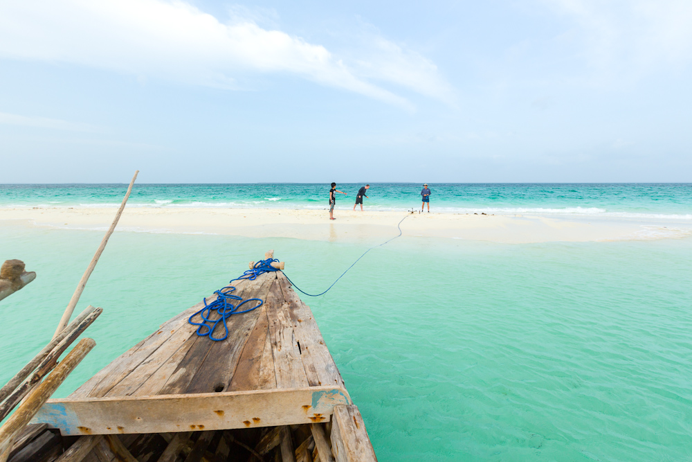 Sand bar from a dhow